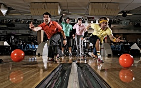 Обои men, extreme, competition, Bowling