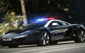 Обои McLaren, полиция, тачка, MP4-12C, коп, Need for speed, Hot pursuit