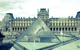 Обои Франция, Лувр, Париж