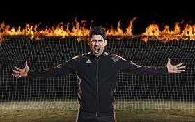 Обои огонь, Бразилец, футболист, ворота, Diego Costa, Диего Коста, Испания