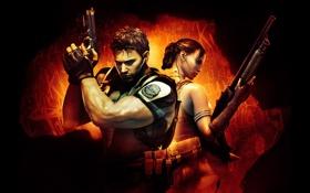 Картинка игры, Sheva, resident evil 5, Chris