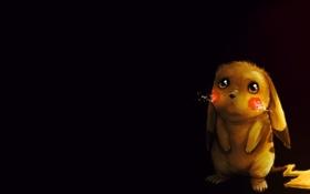 Картинка желтый, хвост, pokemon, pikachu, пика-пика