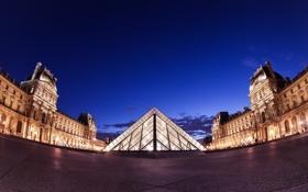 Обои ночь, город, Париж