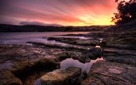 Обои вода, камни, города, скалы, берег, пейзажи, фотографии