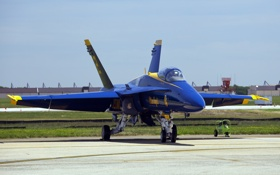 Обои истребитель, синий, blue angels, самолет