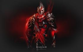 Картинка Доспехи, Воин, Пламя, Warrior, Cabal 2, Кабал 2