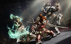 Обои World of Warcraft, Blizzard, warcraft, panda, World of Warcraft: Mists of Pandaria