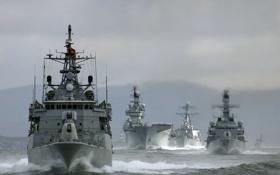 Картинка Вода, Океан, Море, Фото, Корабли, Судно, ВМФ