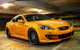 Обои ораньжевого цвета, hyundai, auto