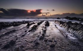 Картинка камни, ночь, море