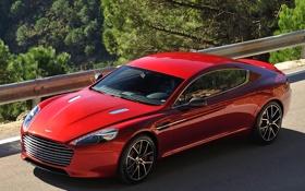 Картинка Aston Martin, Rapide S, автомобиль, дорога, красный