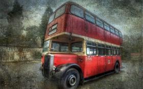 Обои стиль, фон, автобус