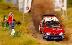 Обои Модель, Капот, Citroen, WRC, Ралли, Sebastien Loeb, Передок