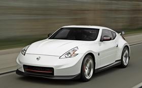 Обои car, white, speed, Nismo, Nissan 370Z