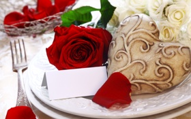 Картинка цветы, красный, розы, букет, лепестки
