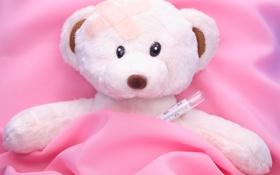 Обои мишка, teddy bear, sadness, loneliness, лечить, Тедди, одиночество