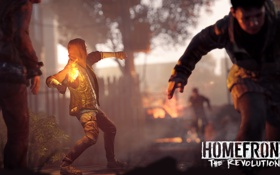 Картинка война, коктель, солдаты, Homefront, The Revolution