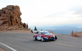 Обои горы, Ford, Fiesta, Rallycross