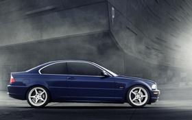 Картинка синий, здание, BMW, боком, By dmarty78, Vorshlag