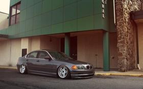 Картинка бмв, BMW, серая, E46, 3 серия, 325