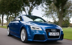 Картинка скорость, Audi, синий, Plus Coupe, ауди