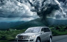 Картинка дорога, небо, страх, скорость, трасса, ураган, буйвол