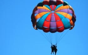 Обои воздушный шар, фон, люди, обои, настроения, спорт, женщина