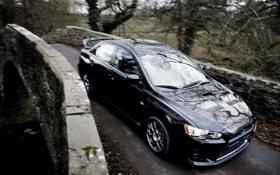 Обои фары, тачка, Mitsubishi, Lancer, передок, Evolution X