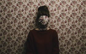 Обои wallpaper, girl, sweater, covered face