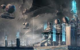 Обои future, night, city, megapolis