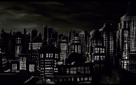 Обои мультфильм, ночной город, пластилиновый, мэри и макс
