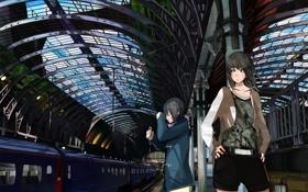 Обои вокзал, поезд, станция, ожидание, слёзы, Train station