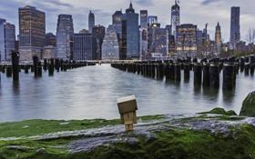 Обои город, коробка, небоскребы, USA, америка, сша, New York City