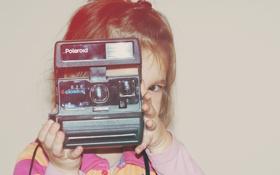 Картинка ребенок, фотоаппарат, девочка