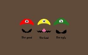 Картинка усы, минимализм, шапки, character, minimalism, 1920x1200, персонаж