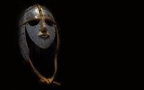 Картинка маска, шлем, железо, чеканка, Sutton Hoo, Саттон-Ху