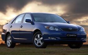 Картинка небо, синий, акула, Toyota, седан, передок, Тойота