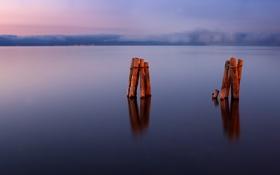 Картинка landscape, пейзаж, nature, небо, рассвет, water, 2560x1600