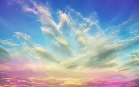 Обои облака, закат, рассвет, Небо