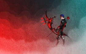 Обои лук, мужчина, стрелы, art, лучник, Final Fantasy XIV, Orisic Rynalil