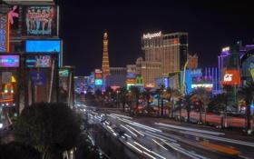 Обои ночь, lights, Лас-Вегас, Невада, сша, night, usa