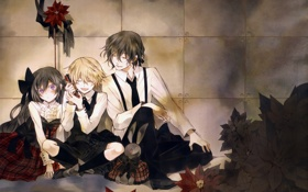 Картинка телефон, Pandora Hearts, Alice, Gilbert Nightray, Oz Bezarius