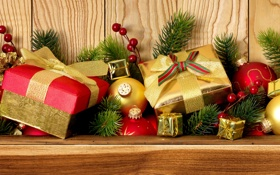 Обои шарики, ветки, шары, игрушки, ель, Новый Год, Рождество