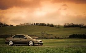Картинка небо, природа, Subaru, Impreza