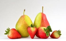 Обои клубника, плоды, фрукты, груши