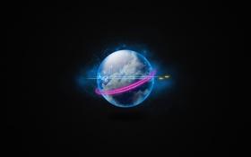 Обои космос, фон, настроение, обои, графика, планета
