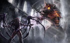 Картинка starcraft, diablo, sarah kerrigan, Queen of Blades, moba, heroes of the storm, Lord of Terror