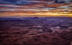 Картинка небо, долина, каньон, сша