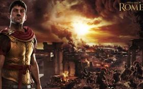Обои огонь, война, дым, Рим, битва, Rome, войско