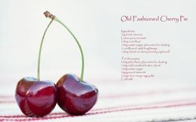 Обои рецепт, макро, еда, вишня